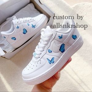 Nike womens air force 1 low custom butterfly